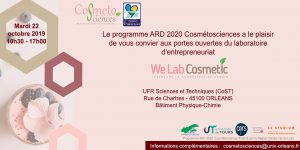 2019-10-22 invitation portes ouvertes We Lab Cosmetic