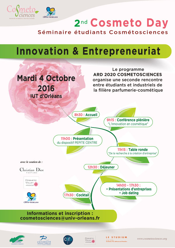 Cosmétosciences - Cosmeto Day innovation et entrepreneuriat